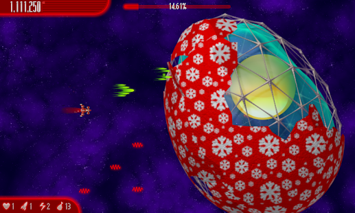 Chicken Invaders 4 Xmas HD- screenshot thumbnail
