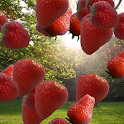 Floating Strawberries Free icon