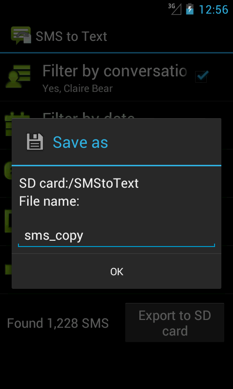 SMS to Text - screenshot