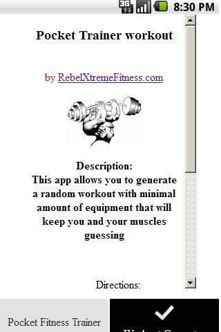 Pocket Fitness Trainer