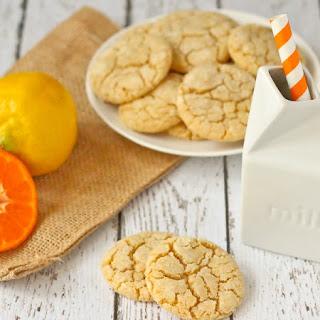 Lemon Clementine Crinkle Cookies