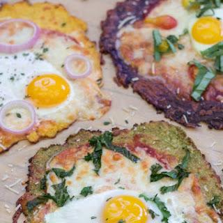 Breakfast Pizza with Gluten-Free Cauliflower Crust.
