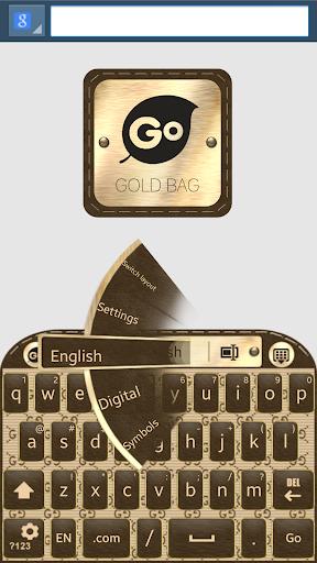【免費個人化App】Gold Bag Go Keyboard-APP點子