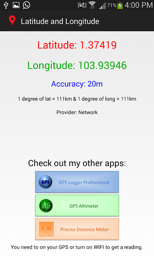 how to find latitude and longitude in android