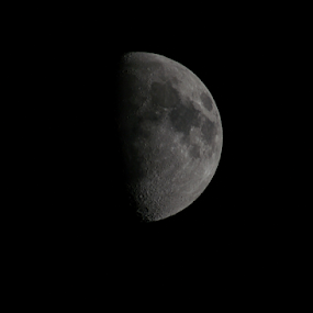 Moon by Yogesh Kumar - Nature Up Close Other Natural Objects ( moon, dark, night, up, close )