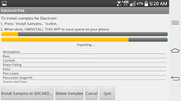 Screenshot of Electrum Pak HipHop