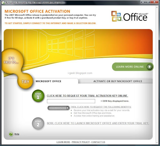 geeklog- ultimate geek knowledge: How to activate Microsoft