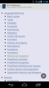 PHP Manual Offline - screenshot thumbnail