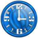 Nice Blue Clock Widget icon