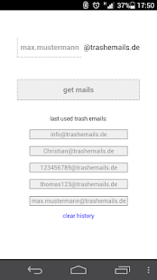 Trash Emails- screenshot thumbnail