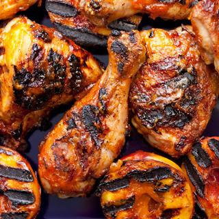 Grilled Chicken with Nectarine BBQ Sauce