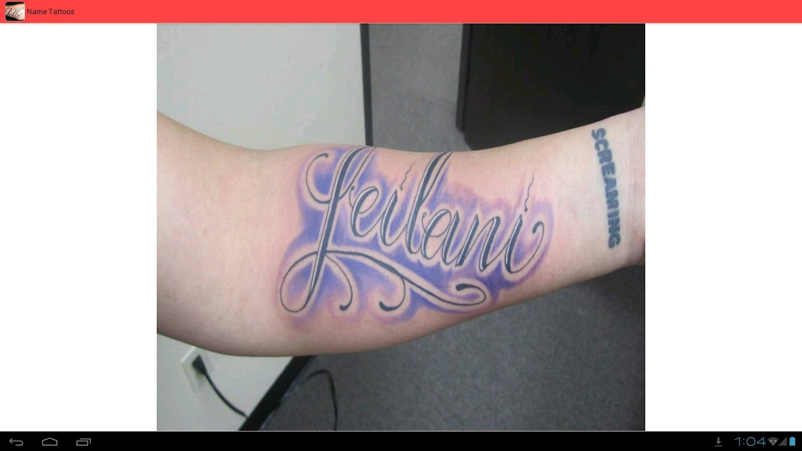 Name Tattoos Ideas- screenshot