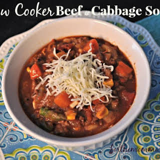 Slow Cooker Beef and Cabbage Soup.
