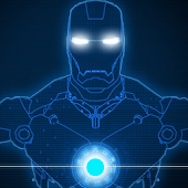 LightBlue Iron Man Uccw Skin