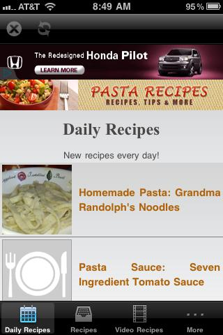Pasta Recipes!- screenshot
