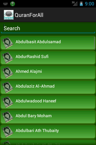 Audio Quran Multilanguage - screenshot