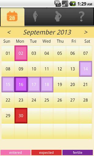 Fem - menstrual calendar