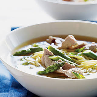 Chinese Pork and Asparagus Soup.
