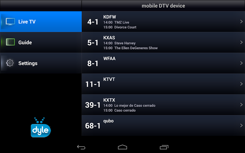 Wireless Dyle® mobile TV on Google Play Reviews | Stats on