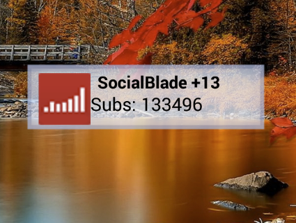 YouTube Subscriber Stat Widget - screenshot