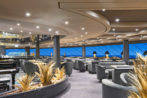 MSC-Preziosa-Top-Sail-Lounge-(Yacht-Club) - Guests in MSC Preziosa's private Yacht Club enjoy mesmerizing views from the Top Sail Lounge.
