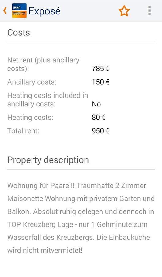 Immobilien Scout24 - screenshot