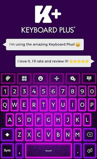 焕发紫色的键盘