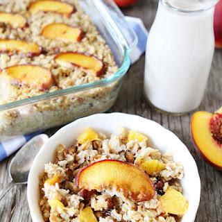 Baked Peach Almond Oatmeal