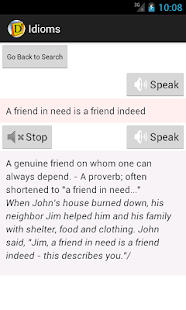 English Idioms Dictionary- screenshot thumbnail