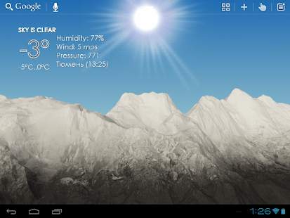 Mountain View Weather LWP- screenshot thumbnail