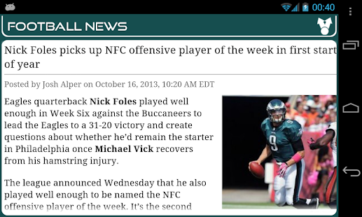 Philadelphia Football News- screenshot thumbnail