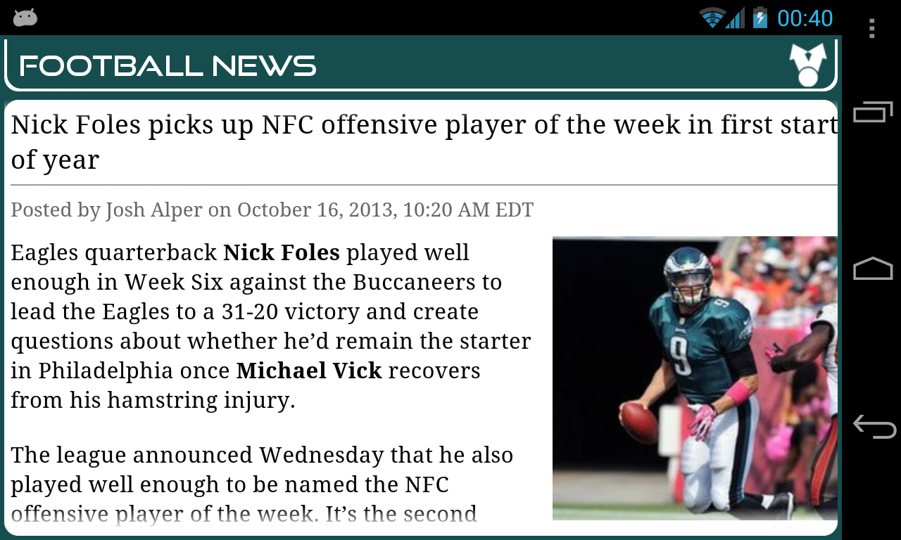 Philadelphia Football News- screenshot