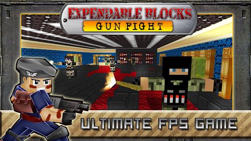 Expendable Blocks Gun Fight