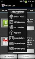 Screenshot of Wizard Cut Icon Changer