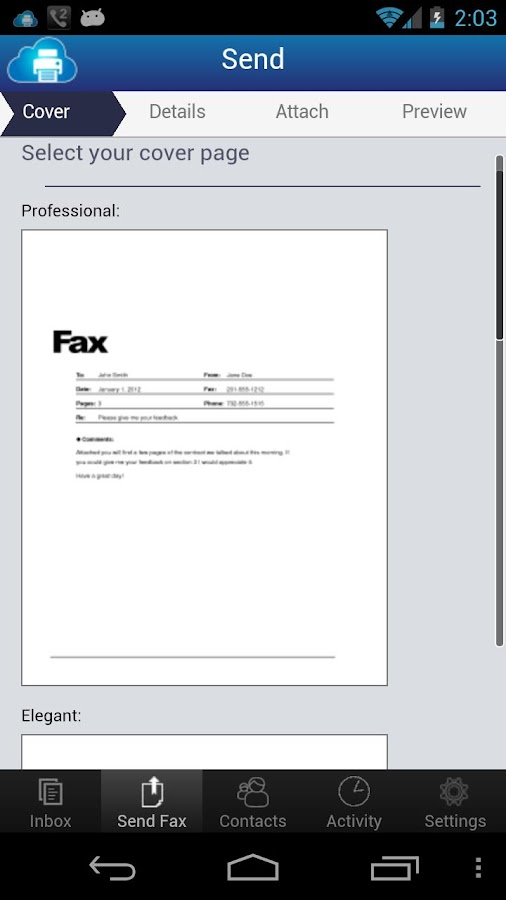 uFax - Online Fax in the Cloud- screenshot