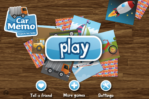 Car Memo Match PRO for kids
