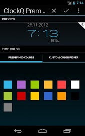 ClockQ - Digital Clock Widget Screenshot 4