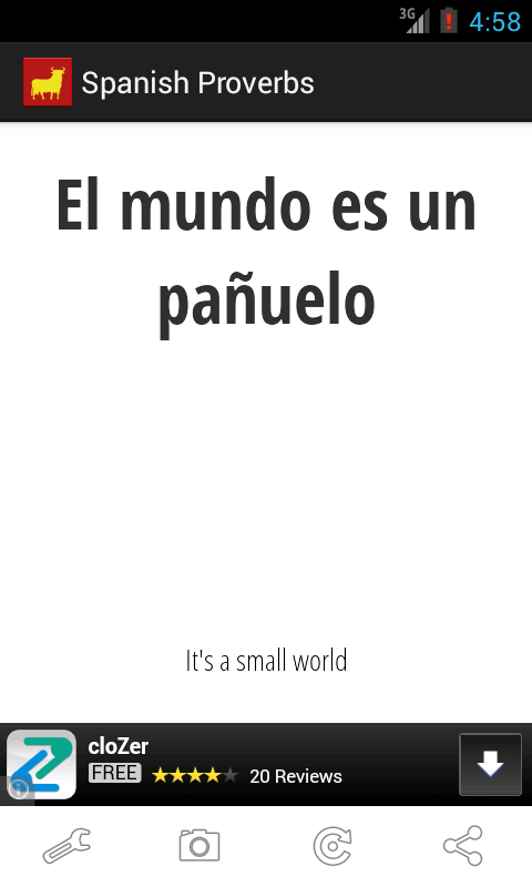 Spanish Proverbs - screenshot