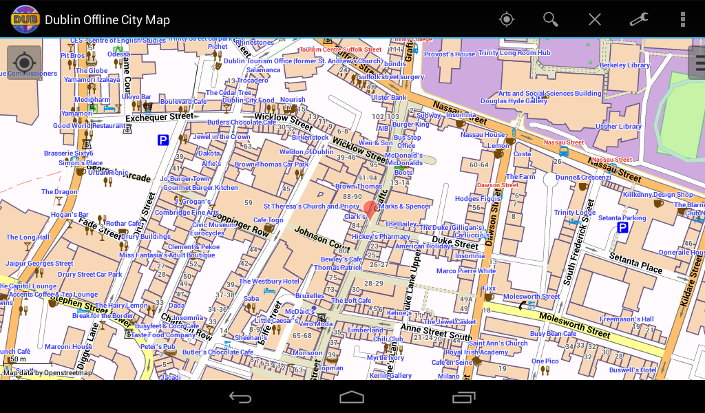 Dublin Offline City Map Android Apps on Google Play – Street Map of Paris Pdf