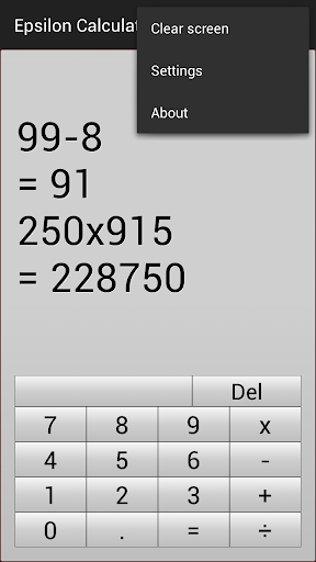 Epsilon Calculator