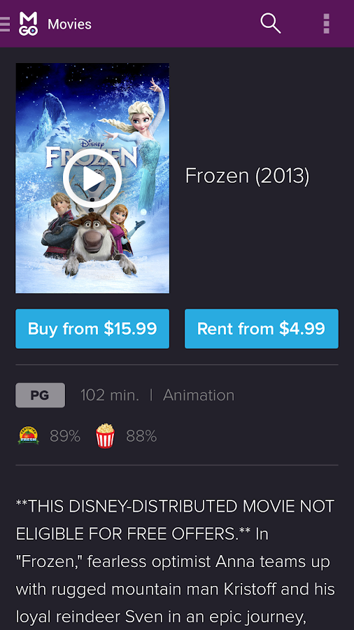download frozen movie free on android