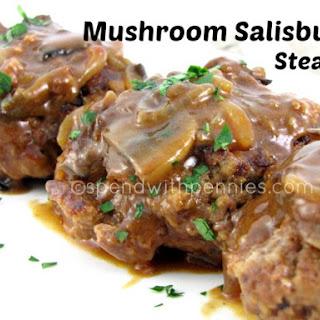 Mushroom Salisbury Steak.