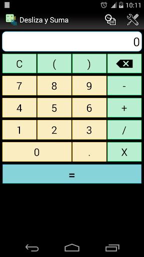Calculadora Desliza y Suma