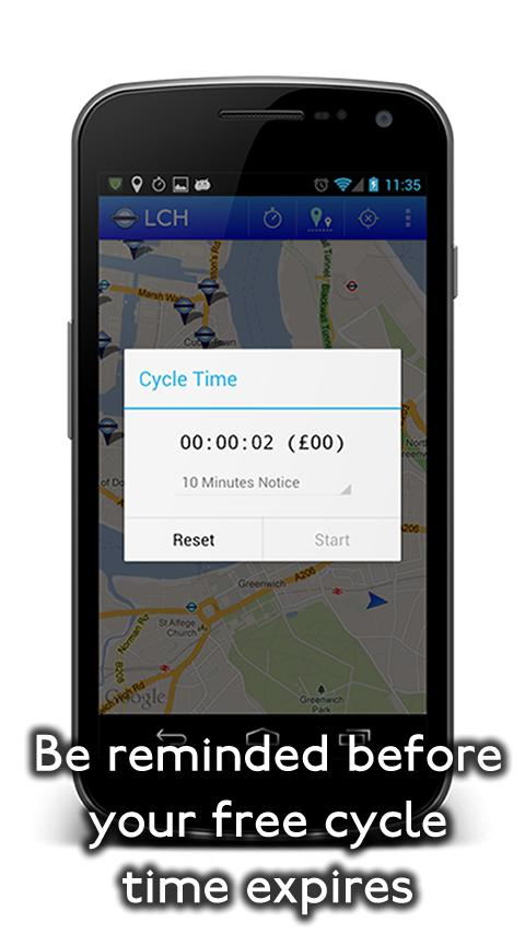 London Cycle Hire - screenshot