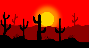 Desert At Sunrise