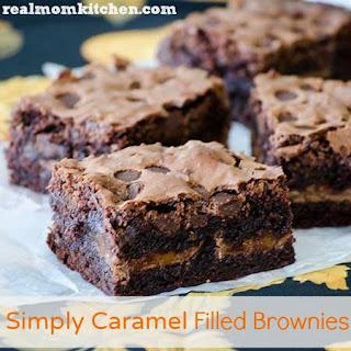 Simply Caramel Filled Brownies.
