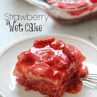 Strawberry Wet Cake.