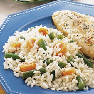 Rice Pilaf with Green Beans and Carrots.
