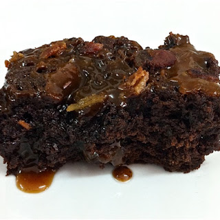 Brownies with Bacon Caramel.