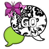 GO SMS THEME/LimeGreenPurple